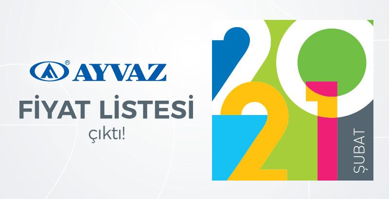 Ayvaz Şubat 2021 Fiyat Listesi çıktı!