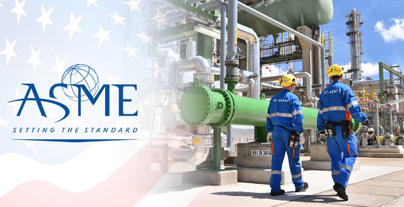 Ayvaz is certified by ASME for its capability to produce in American Standards