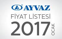 Ayvaz 2017 Fiyat Listesi çıktı!