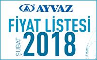 Ayvaz 2018 Fiyat Listesi çıktı!