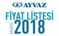 Ayvaz Mayıs 2018 Fiyat Listesi çıktı!
