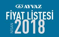 Ayvaz Nisan 2018 Fiyat Listesi çıktı!