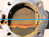Problemas de corosión que surgen en las líneas de condensación