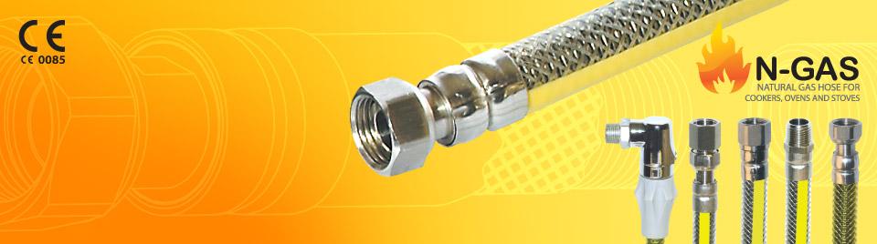 Les Tuyaux Flexibles Metalliques De Gaz N-FLEX TS-EN 14800