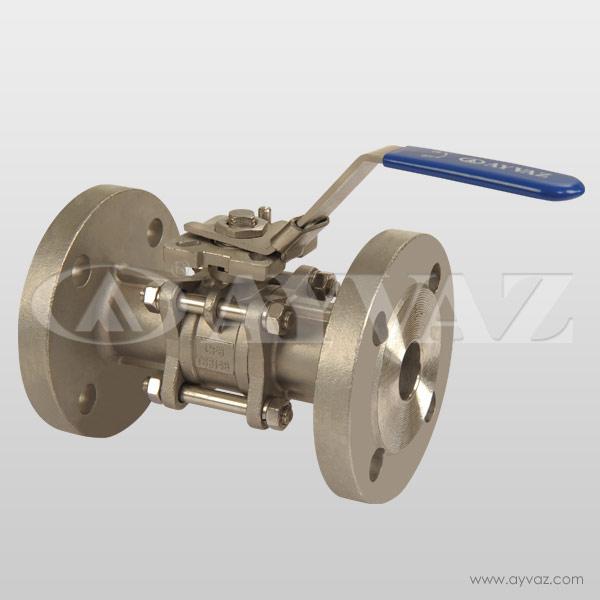 Válvulas de Bola V-3FP Bridada 3 Piezas Base Actuador Acero