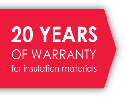 20 years of warranty for insulation materials