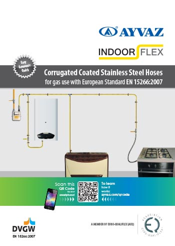 15266 Indoor-Flex Domestic Gas Connection Hoses